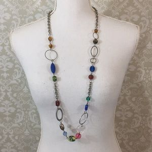 Jewelry - Long necklace w/an assortment of colorful beads